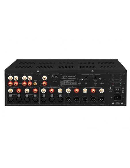 Preamplificatore stereo Emotiva XSP-1, pannello posteriore